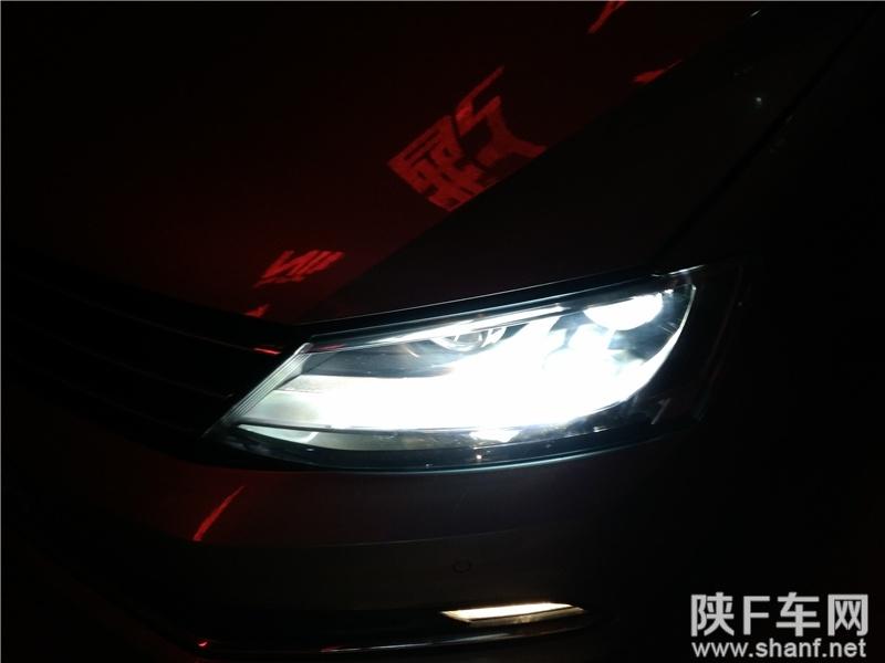 汉中汽车改装,速腾改装大灯锐倍德透镜,加装氙气灯