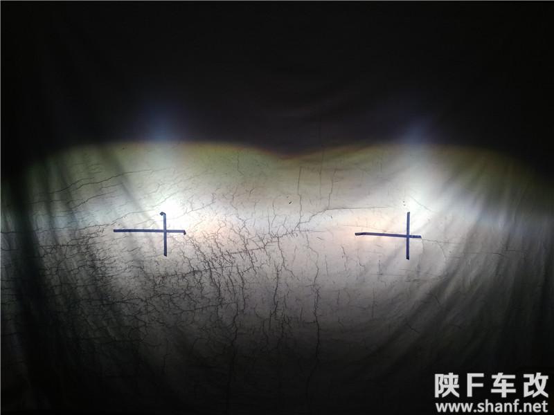 汉中长安CS15改灯,长安CS15大灯改国产海拉五透镜加装氙气灯