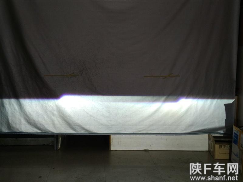 汉中改灯,现代IX25大灯改装Q5透镜,加装LED天使眼