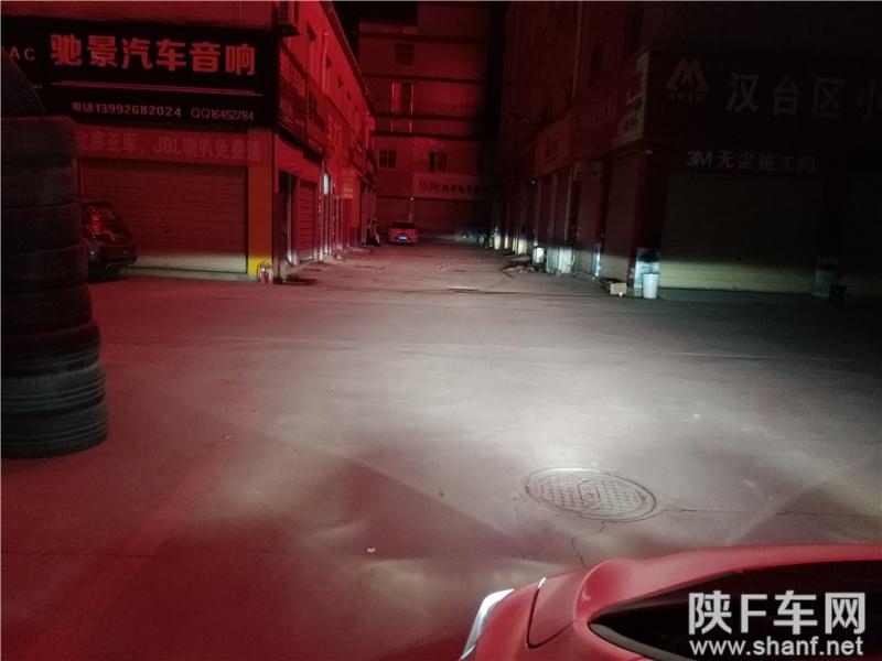 汉中车灯改装,本田飞度大灯改装Q5双光透镜,加装天使眼