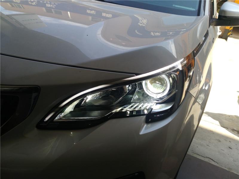 汉中标致4008车灯改装透镜,加装天使眼,轻松实现灯光升级