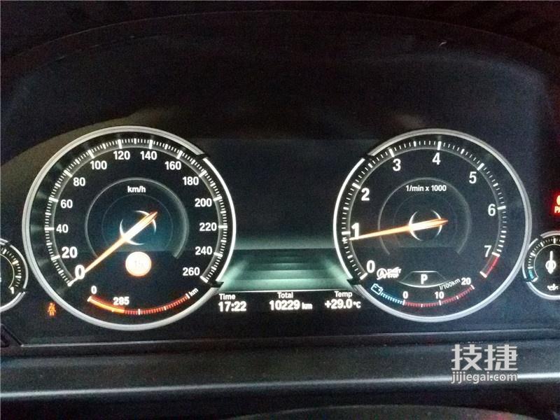 汉中宝马5系改装,原车标配仪表升级改装全液晶仪表