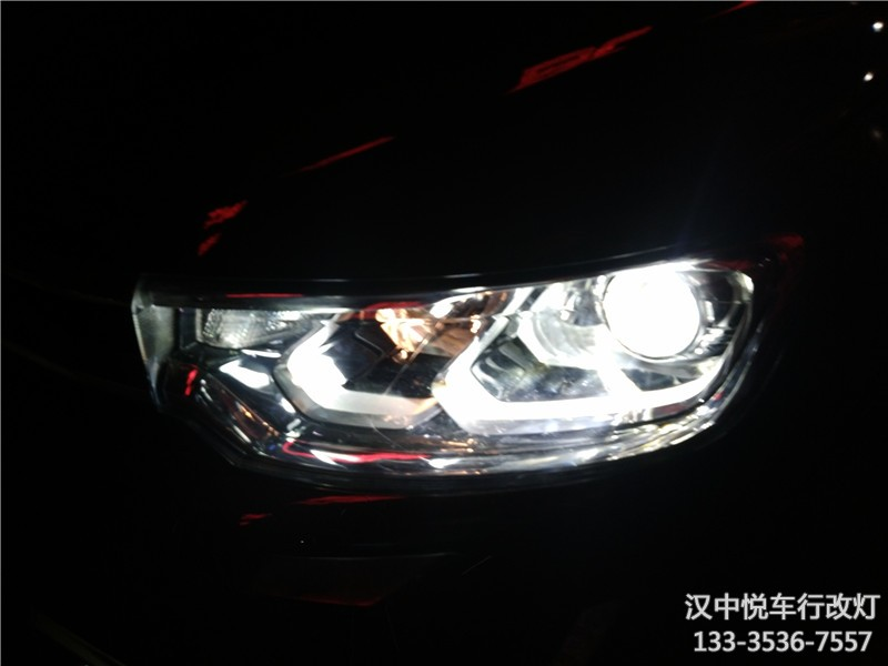 汉中改灯 汉中雪铁龙C3-XR改装车灯双光透镜,升级氙气灯