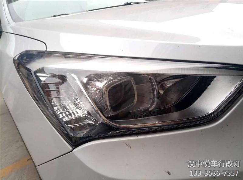 汉中改灯,汉中现代IX45改装原车灯锐倍德透镜,升级氙气灯
