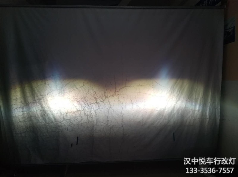 汉中改车灯,汉中雪铁龙C3-XR车灯改锐倍德双光透镜,升级氙气灯