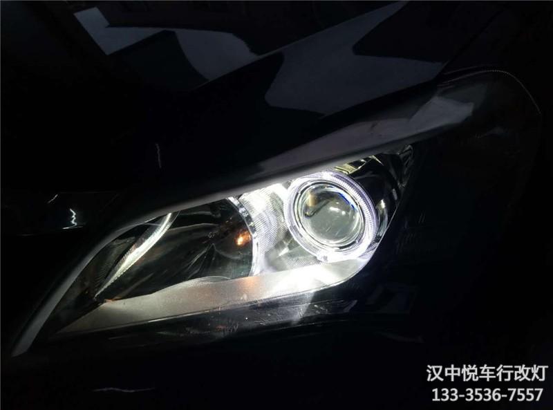 汉中汽车改装,汉中悦车行改装比亚迪F3车灯双光透镜,升级天使眼氙气灯