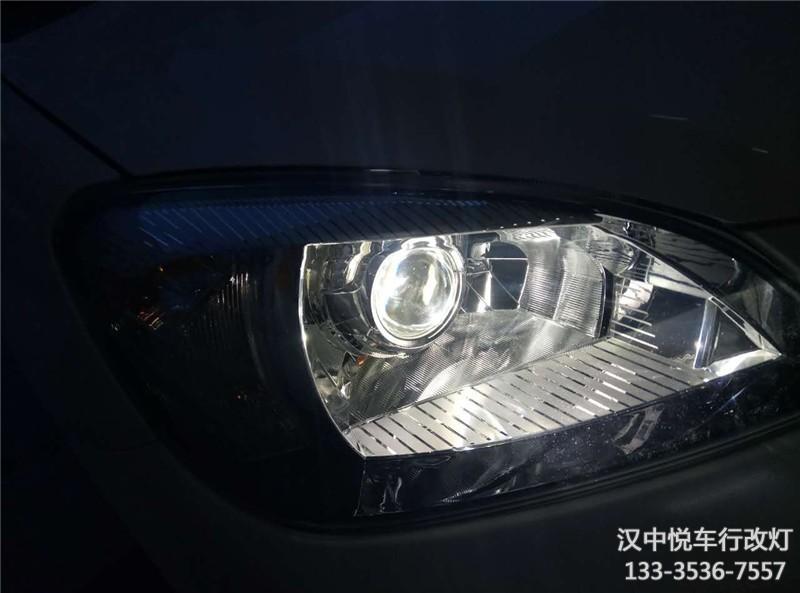汉中改灯,汉中长城C30大灯改装锐倍德透镜升级天使眼案例