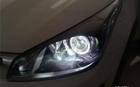 汉中起亚KX-cross改装大灯锐倍德透镜套装加装LED天使眼
